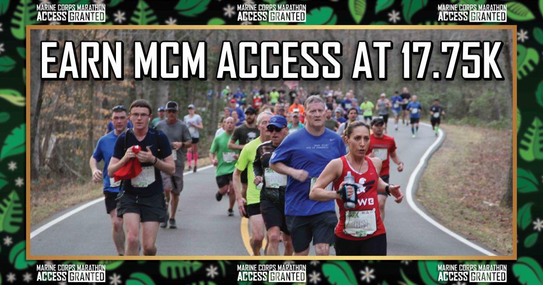 Marine Corps 17.75K Marathon Col William Bentley Quantico