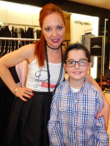 Mindy Scheier and son Oliver