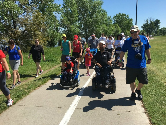 I never turn down a friendly wheelchair race--Especially for a good cause!
