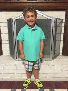 Ethan Lybrand 1st day of school