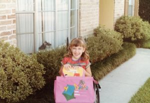 Angela Wrigglesworth 1st day of kindergarten