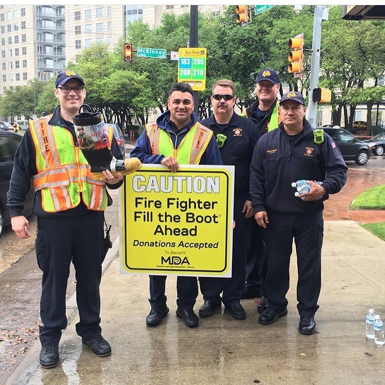 Members of Dallas Fire–Rescue helped raise $519,000 during the city's annual Fill the Boot Drive, MDA's largest to date, to support kids and adults with muscle-debilitating diseases.