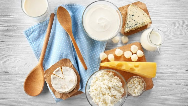 Different forms of dairy, which can trigger acne breakouts