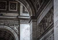 Engravings in Arc De Triomph