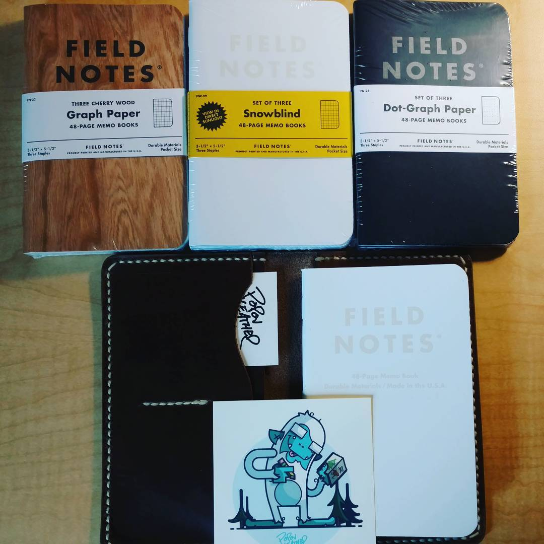 driftwood leather field notes cover popov leather user picture