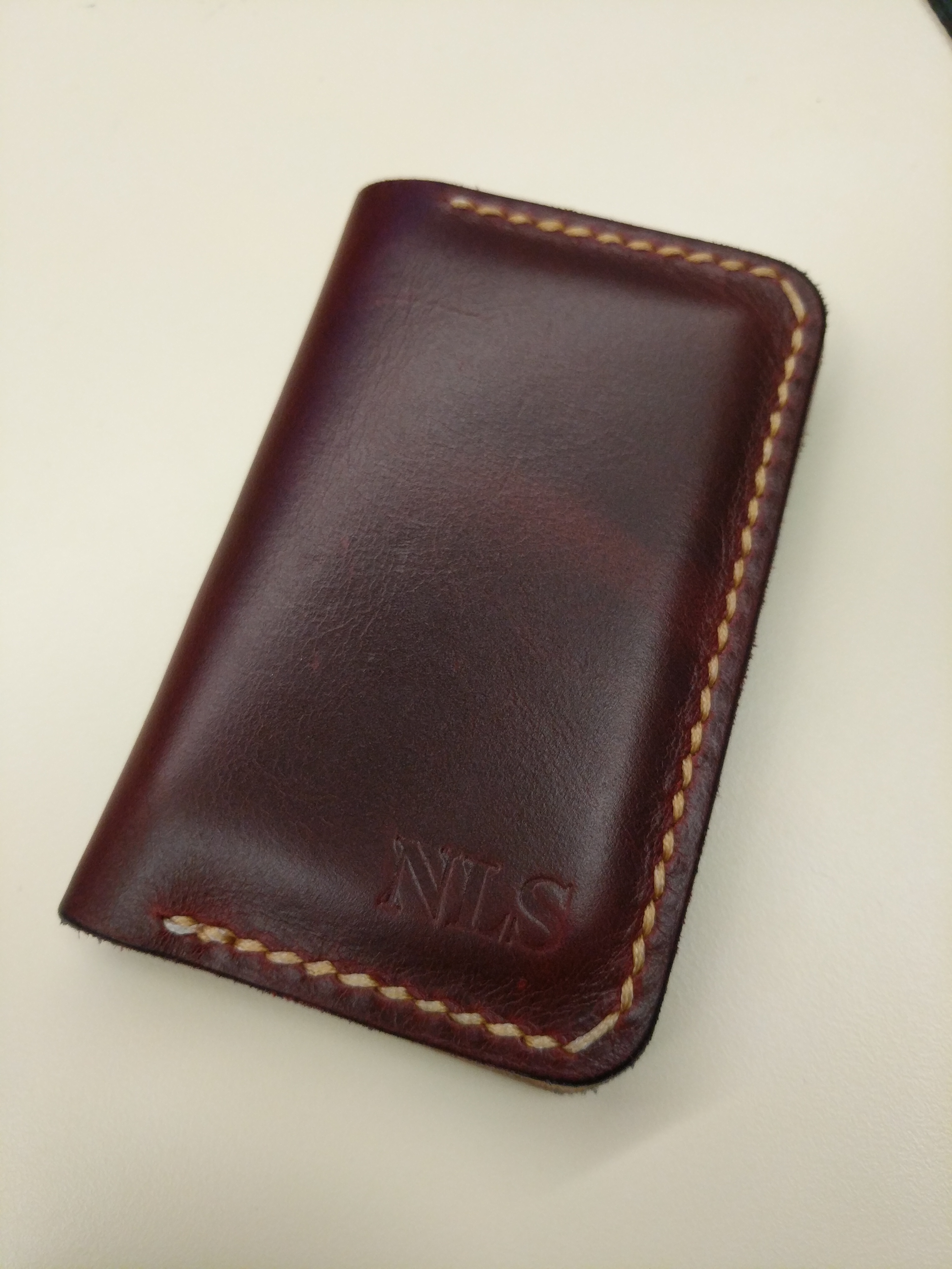 Naked Cherry Leather Business Card Holder Popov Leather