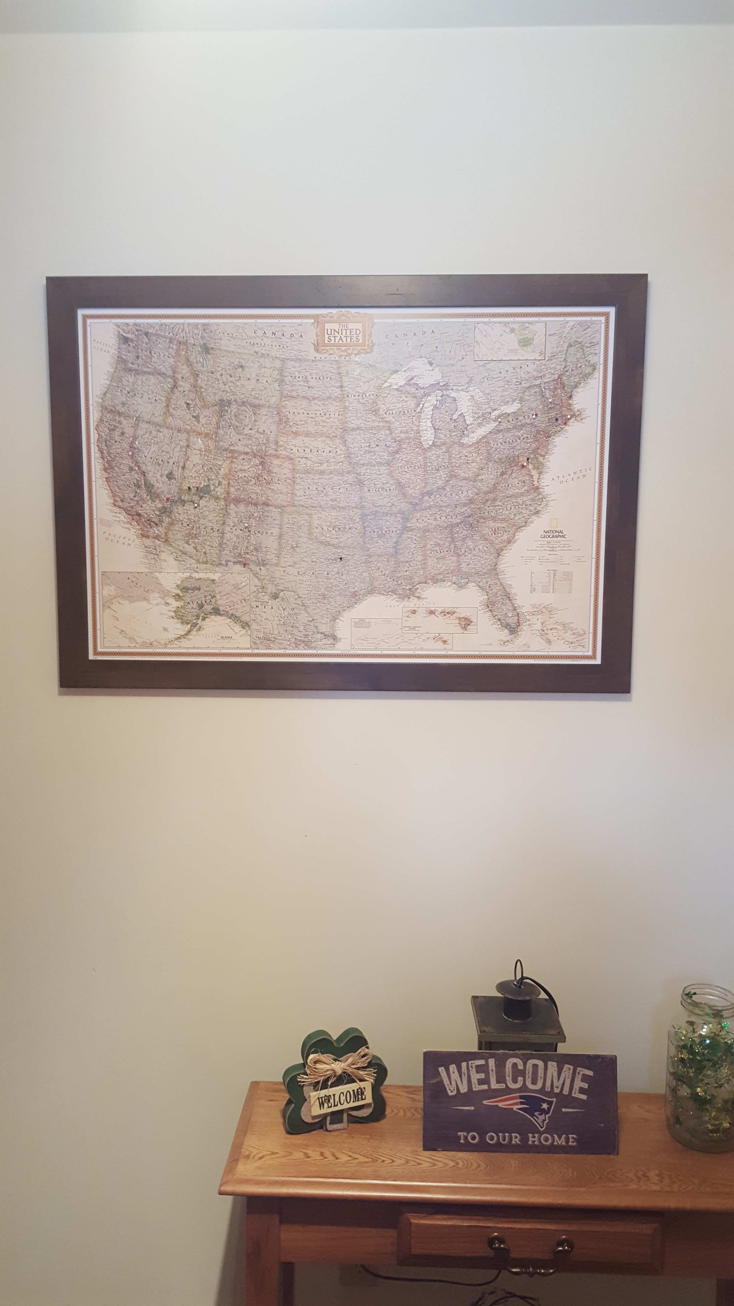 Usa map with target stock illustration image 53067262 businessman framed and personalized world travel maps with pins usa map target gumiabroncs Image collections