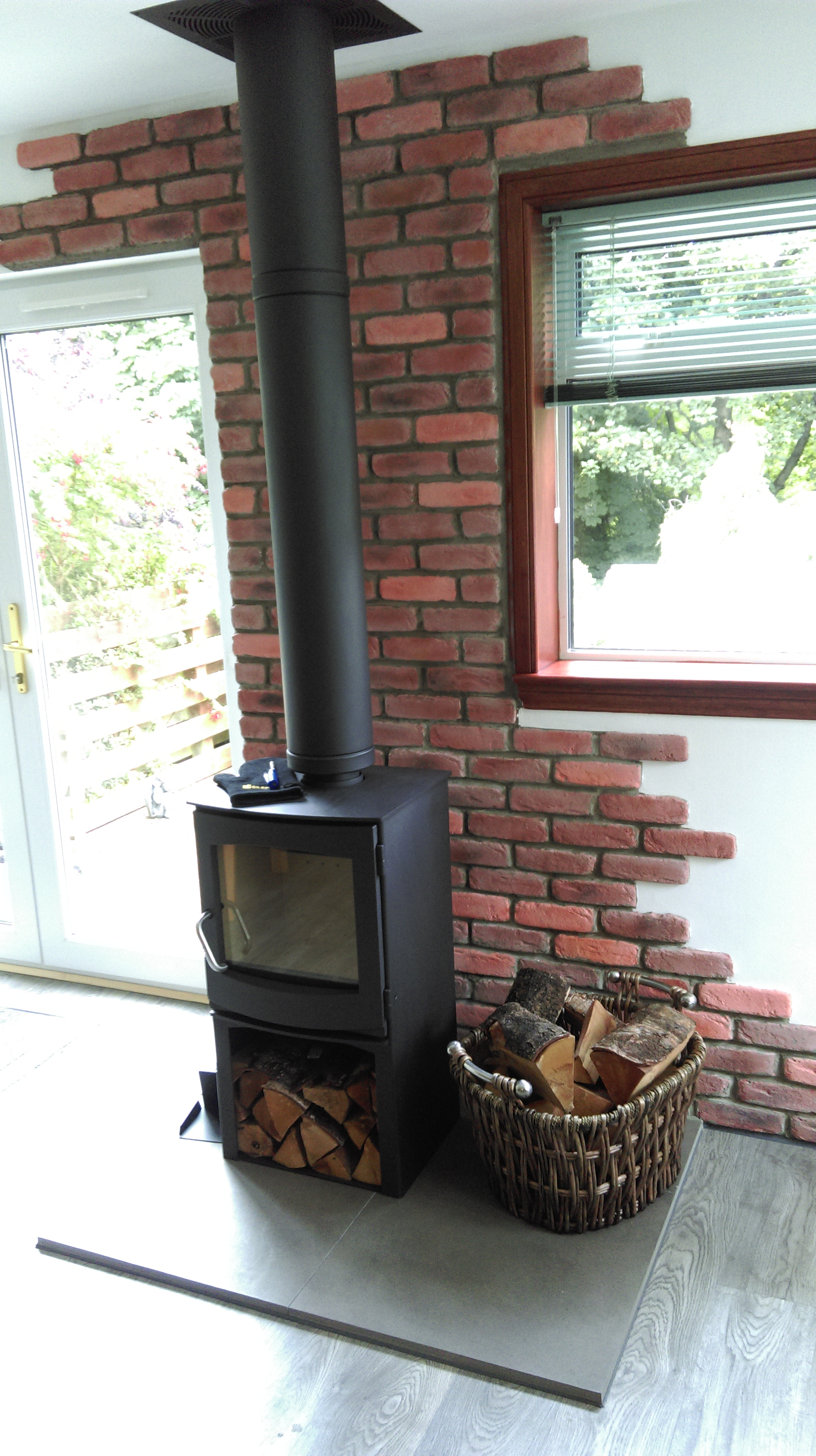 Scenario 8 twin wall chimney system for a SHED, CABIN, OFFICE ...