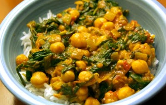 Chickpea_spinach_curry