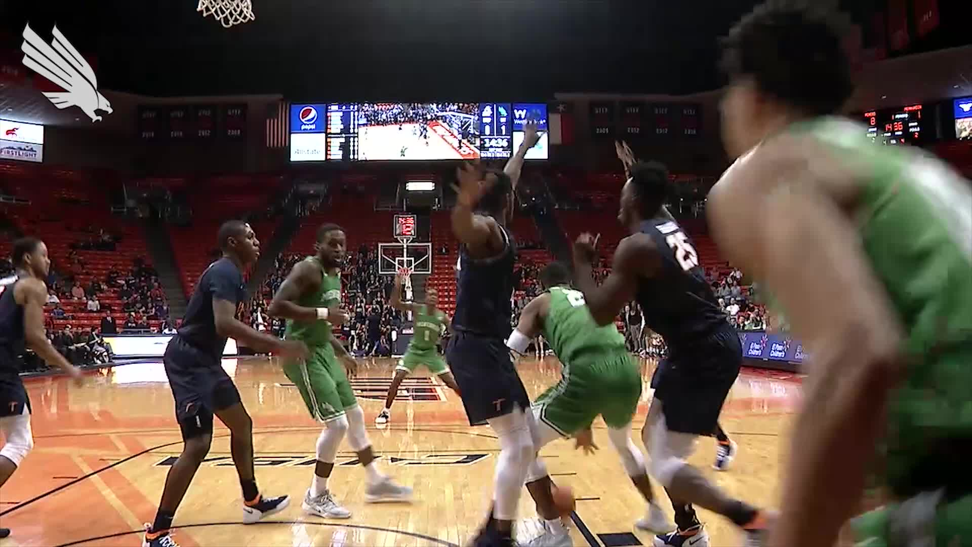 North Texas MBB: Highlights vs UTEP 01/10/19