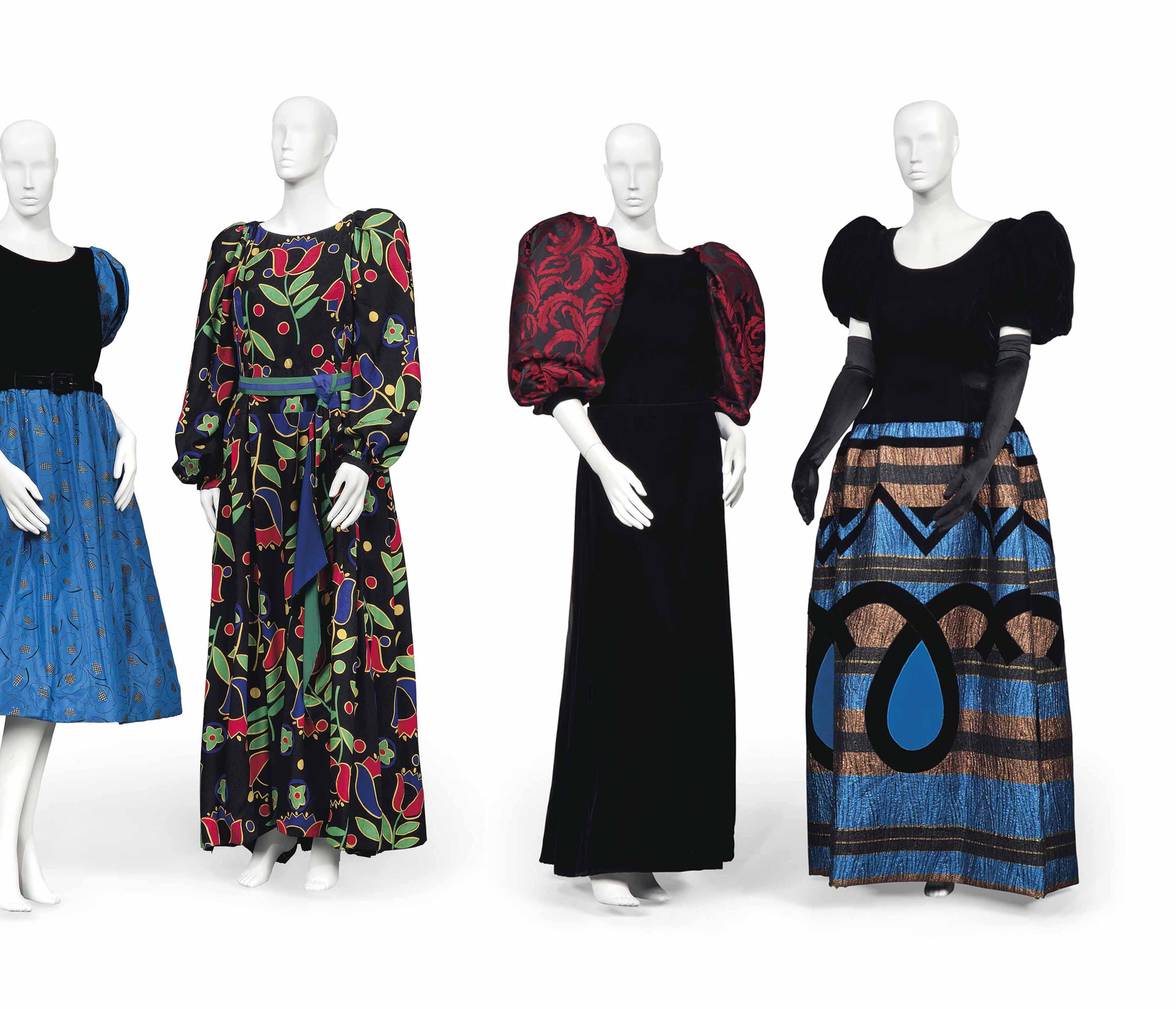 c51249146585 TWO EVENING GOWNS BY PIERRE BALMAIN AND HARDY AMIES, ...