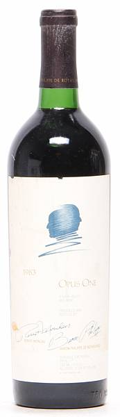 1 bt. Opus One, Mondavi & Rothschild, Napa Valley 1983 A/B (ts).