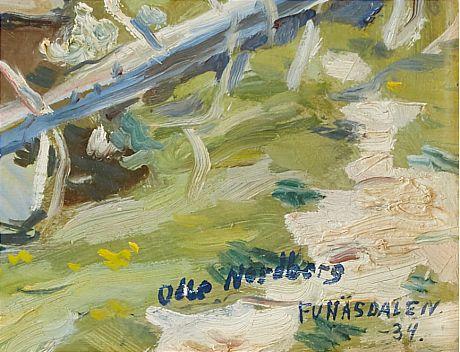 Olle Nordberg oil painting