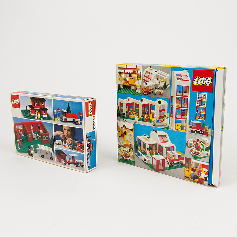 LEGO. 4 pieces set, Denmark, 1970's / 80's.