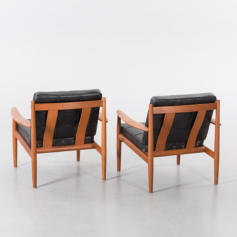 Armchairs. A couple, Grete Jalk France & Son, Denmark 1900s second half.