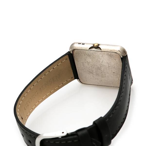 Lene Munthe: A lady's wristwatch of sterling silver. Design no. 354. Quartz movement. 1990s.