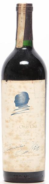 1 bt. Opus One, Mondavi & Rothschild, Napa Valley 1980 A-A/B (bn).