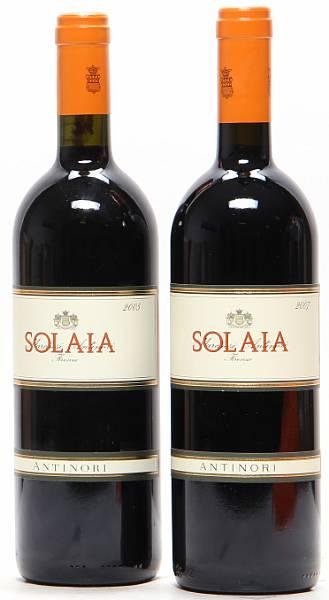 1 bt. Solaia, Marchesi Antinori 2007 A (hf/in).  etc. Total 2 bts.
