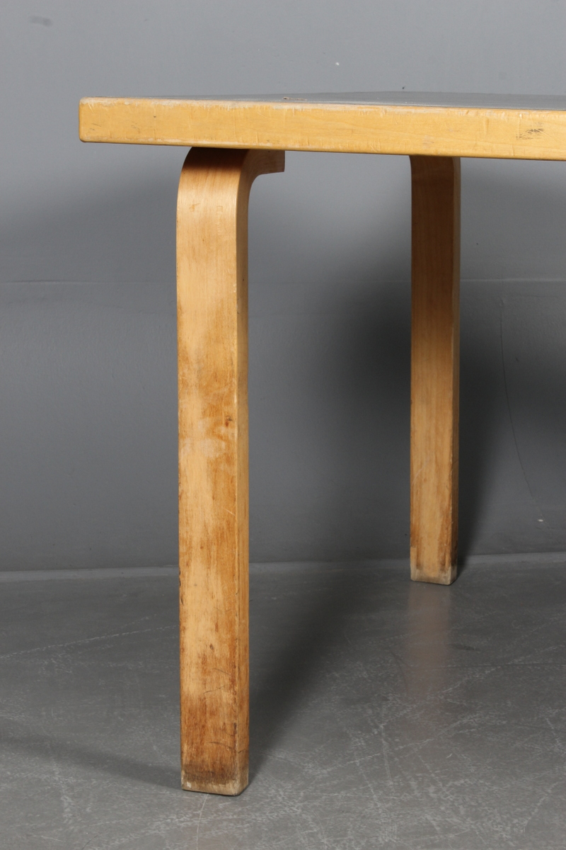 Alvar Aalto. Two rectangular dining tables. (2)