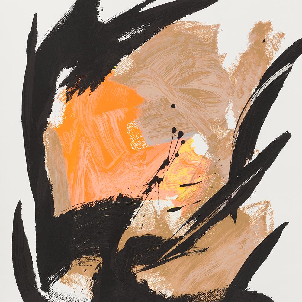 Jean Miotte, Mancha Naranja Central, Serigraph in Colors, 2006