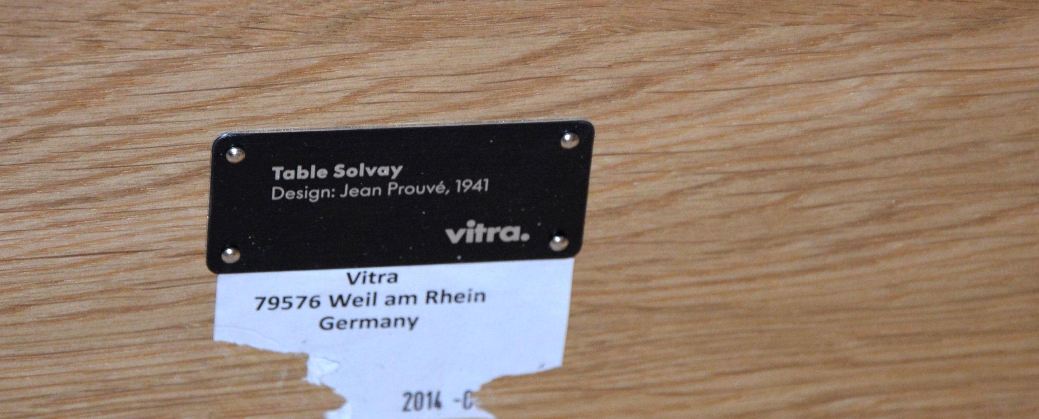 Jean Prouvé. 'TheTable Solvay' solid oak. Vitra, årg. 2014
