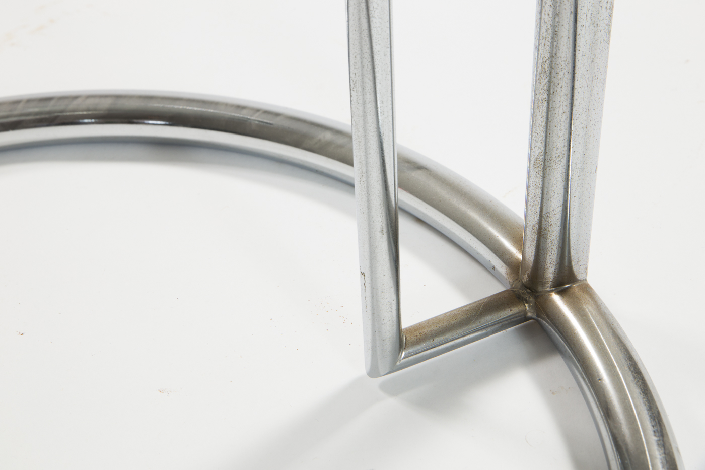 Chromed cocktail table by Eileen Gray