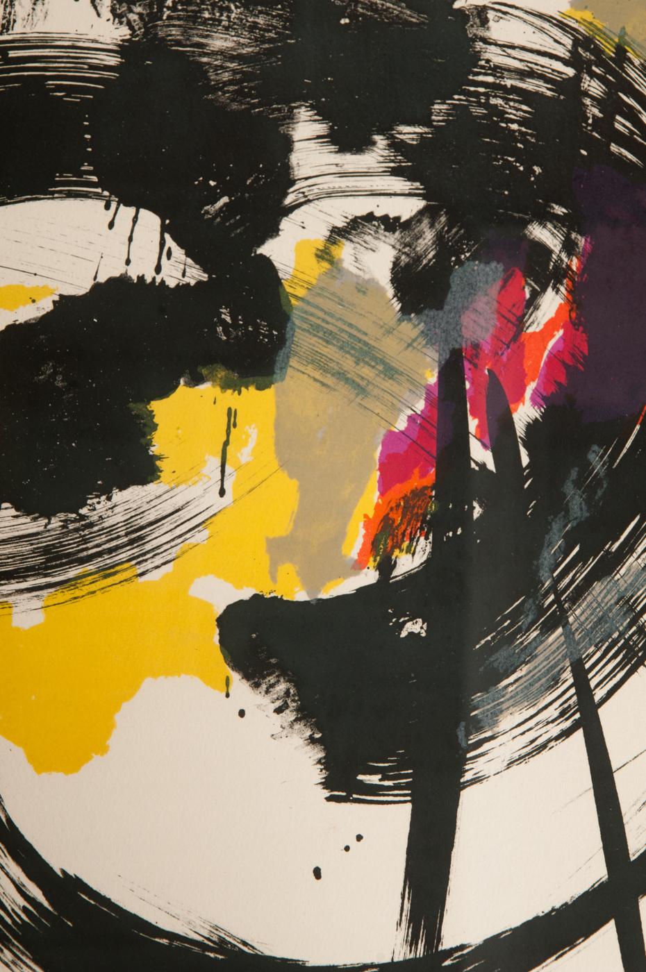 Jean Miotte, color lithograph