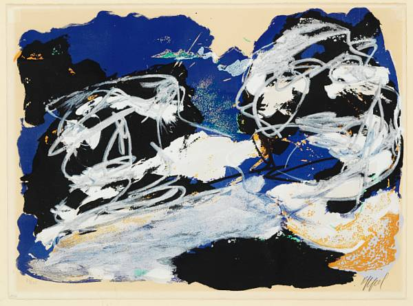 Karel Appel: Composition. Signed Appel, 43/125. Lithograph in colours. Sheet size 56 x 76 cm.