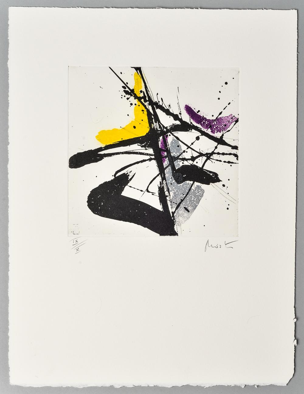 Jean Miotte, 2 color lithographs (2)