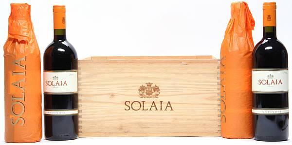 4 bts. Solaia, Marchesi Antinori 2005 A (hf/in). Owc.