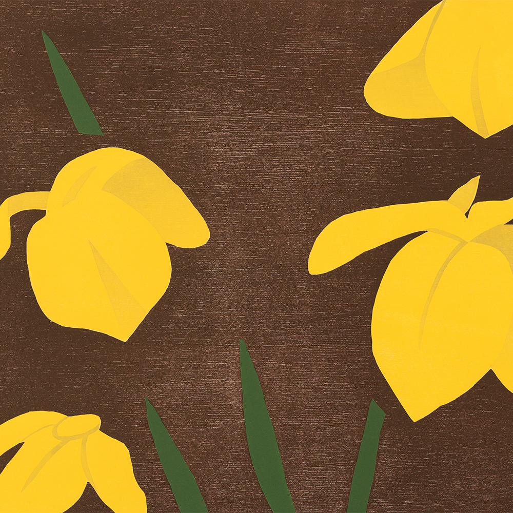 Alex Katz, Yellow Flags, Woodcut in Colors, 2013