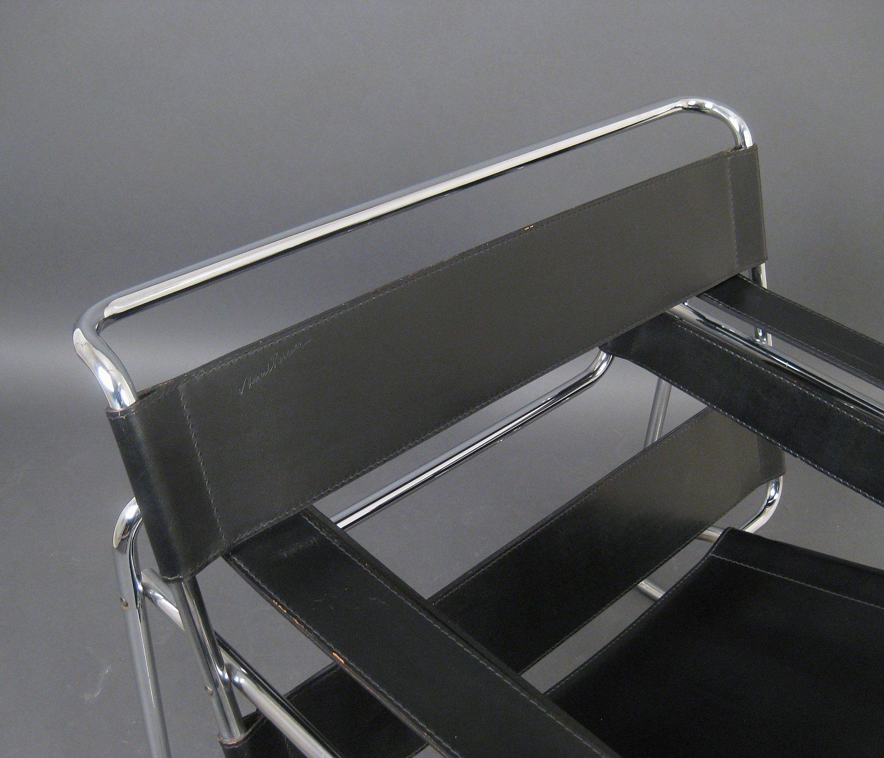 Marcel Breuer, Bauhaus chair model Wassily of Knoll International