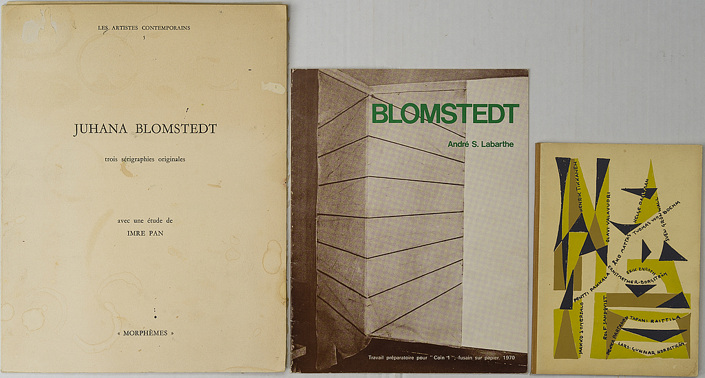Juhana BLOMSTEDT. 3 lithographs and two brochures.