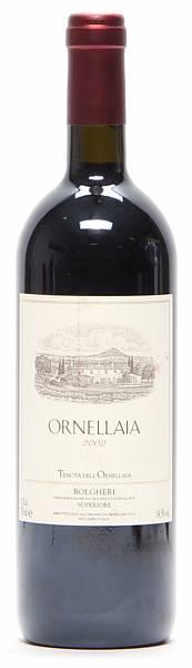 1 bt. Ornellaia, Tenuta dell'Ornellaia, Bolgheri 2002 A-A/B (bn).