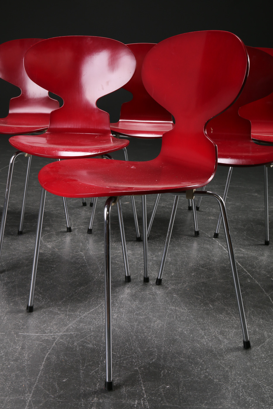 Arne Jacobsen. Six Ant chairs, model 3101 (6)
