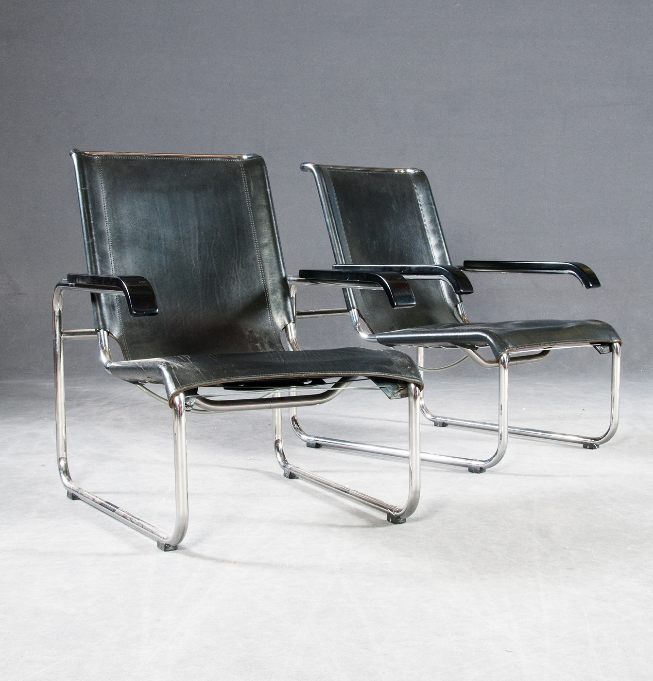 Marcel Breuer, two armchairs S35L for Thonet (2)