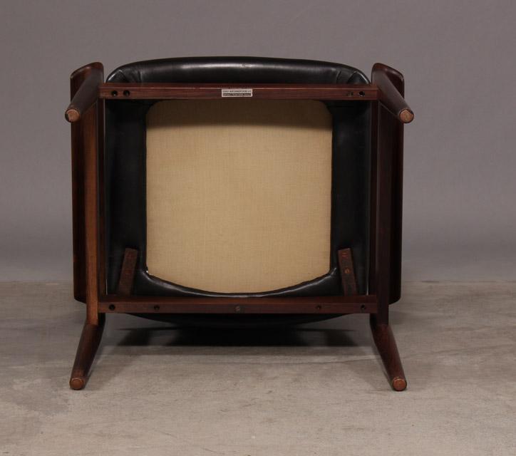 Finn Juhl, diplomat desk chair / armchair, model 209, of rosewood