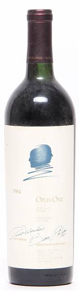 1 bt. Opus One, Mondavi & Rothschild, Napa Valley 1984 A/B (ts).