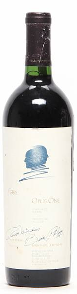1 bt. Opus One, Mondavi & Rothschild, Napa Valley 1986 A/B (ts).