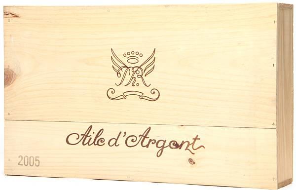 6 bts. Aile d' Argent, Chateau Mouton Rothschild, Bordeaux Blanc 2005 A (hf/in). Owc.