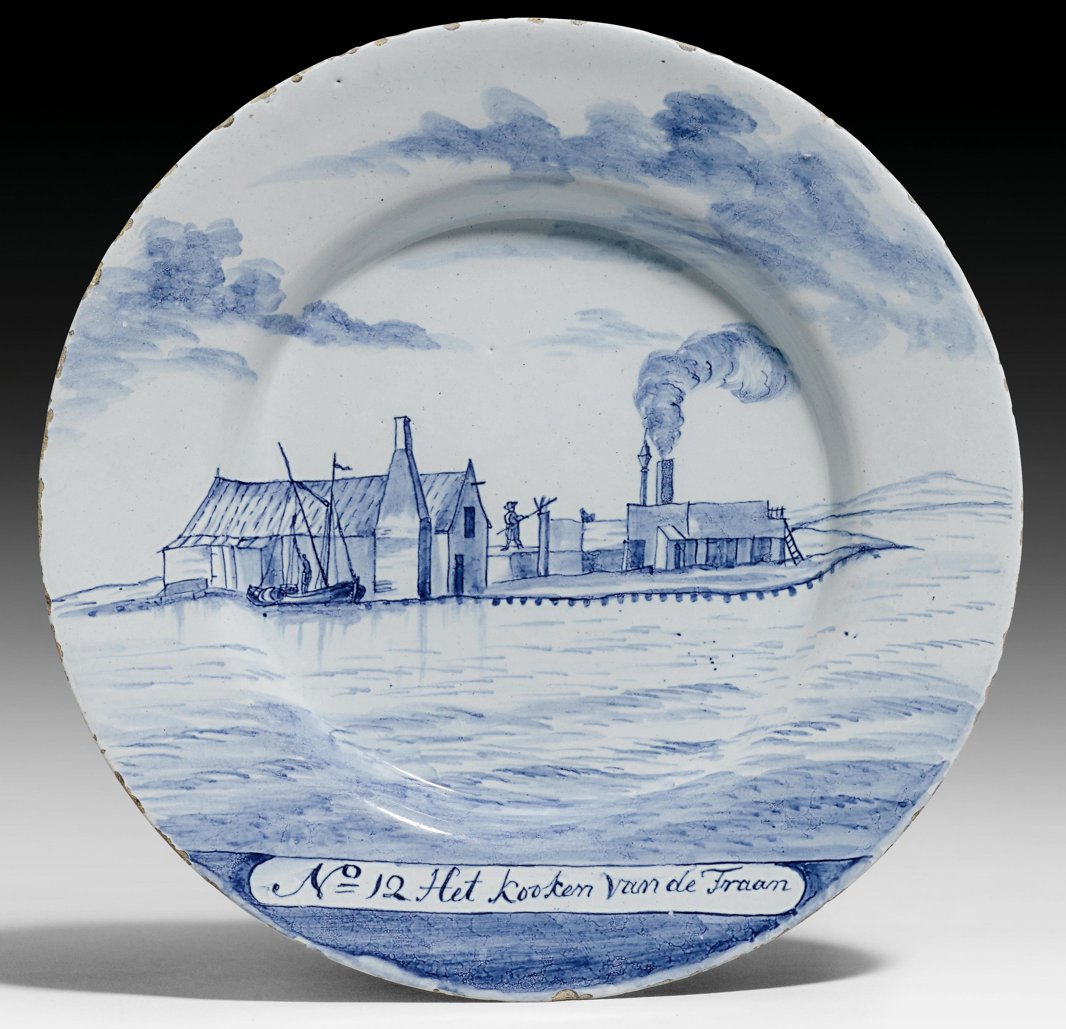 PLATE DEPICTING A WHALE HUNT,