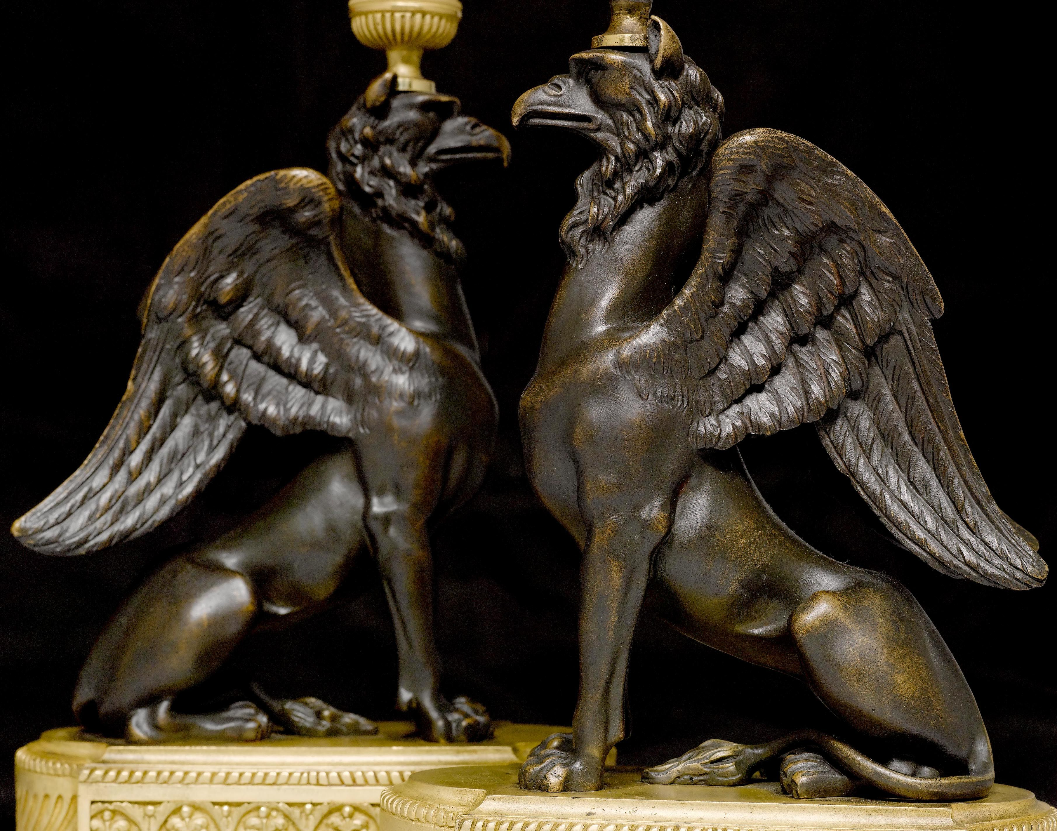 "PAIR OF CANDELABRAS ""AUX GRIFFONS"","