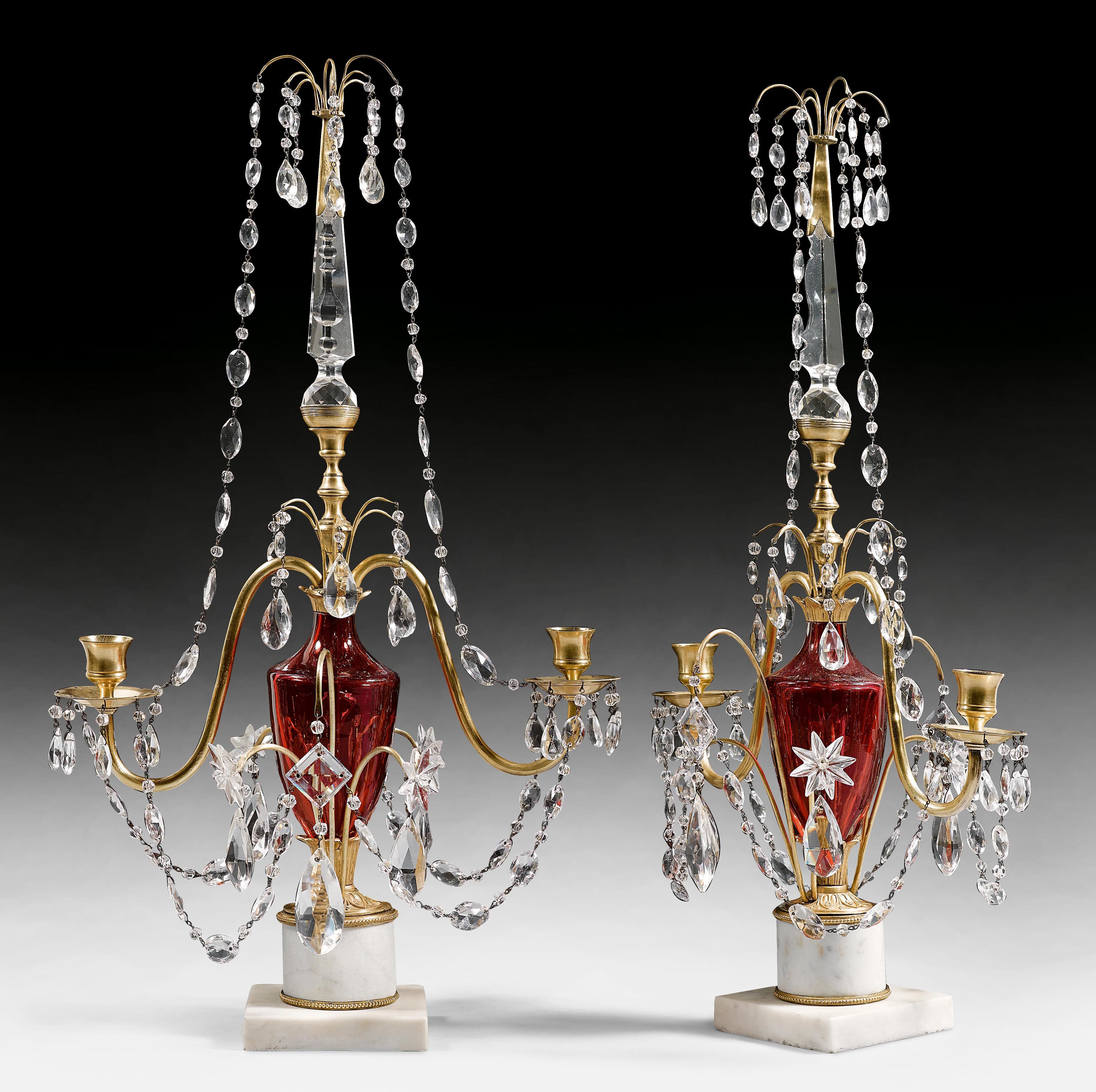 PAIR OF CANDELABRAS,