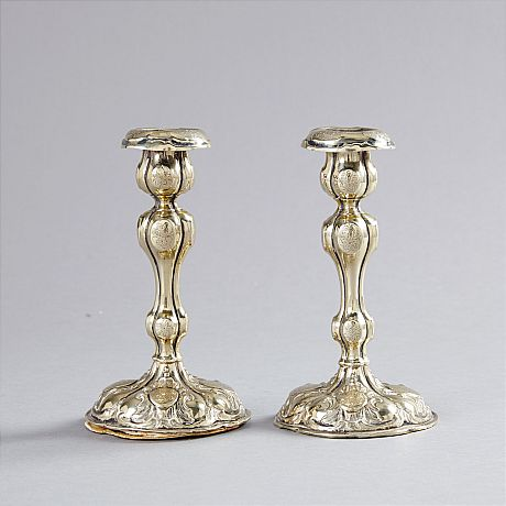 candlesticks of silver