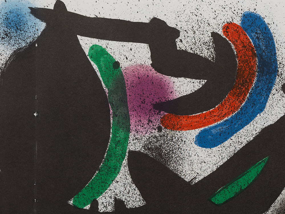 Joan Miró, Lithograph VIII from 'Lithograph I', France, 1972