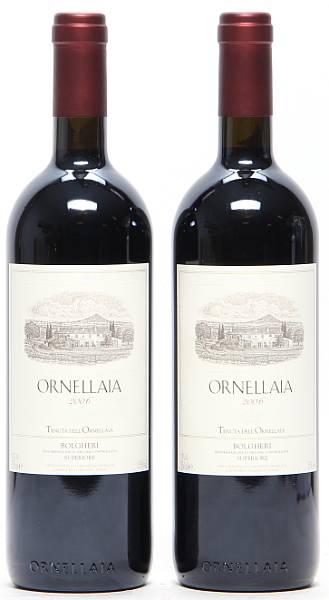 2 bts. Ornellaia, Tenuta dell'Ornellaia, Bolgheri 2006 A (hf/in).