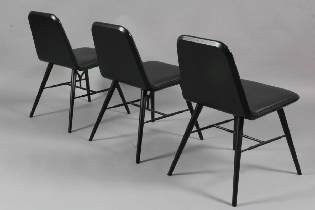 Space Copenhagen for Fredericia Furniture. Dining chairs, model Spine. (3)