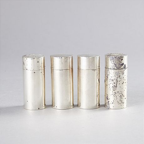 Salt and pepper shakers sterling silver