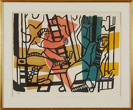 Fernand Léger color lithograph