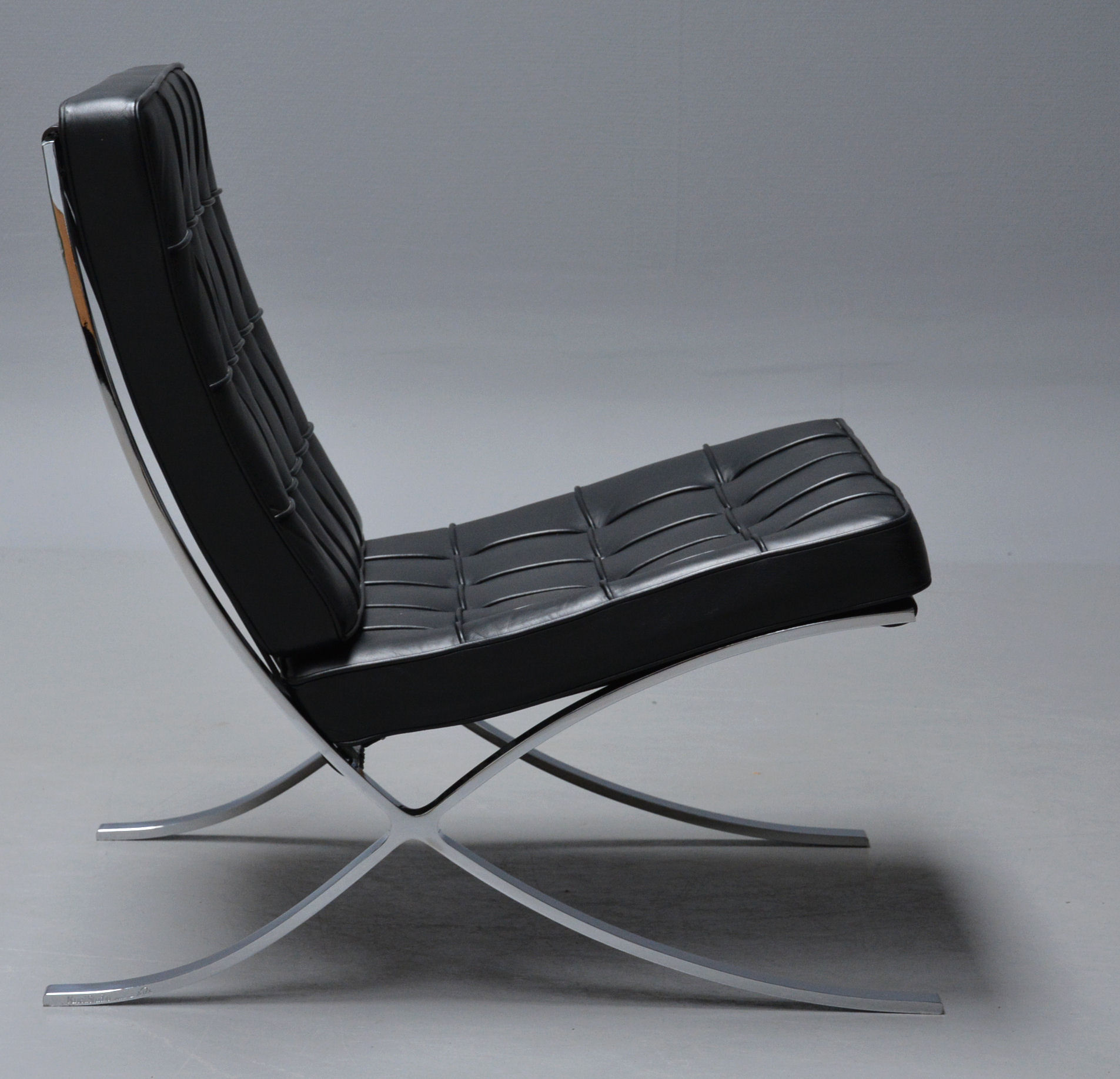 Ludwig Mies van der Rohe. 'Barcelona' lounge chair with accompanying numbered certificate